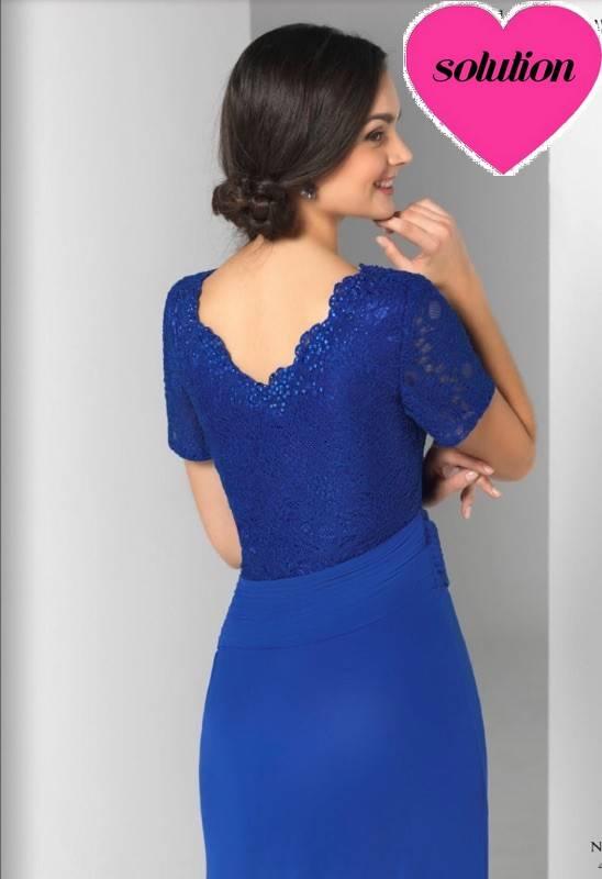 Robe bleu roi femme ronde
