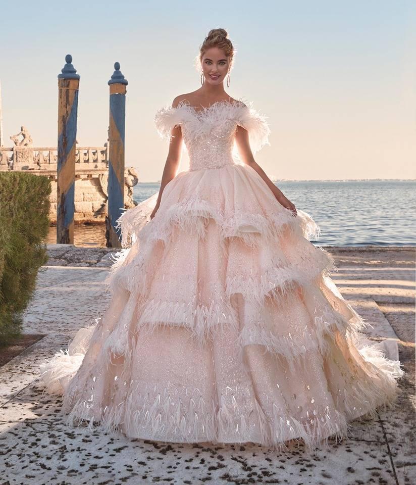 robe de mariée princesse haute couture brodé