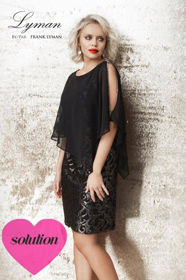a8221d3ba15 robe soirée noire mariage frank lyman marseille centre ville ...